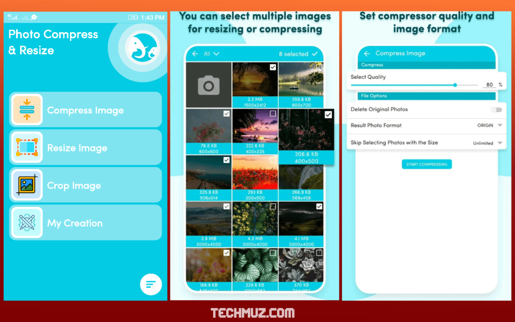 Image compressor app for Android